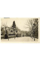 Passeig de la Font Vella nevat, Sant Hilari Sacalm